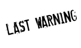 Last Warning rubber stamp Stock Photography