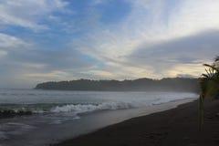 Secret tropical beach in the Pacific Ocean stock photos