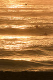 Last waves of the day Stock Images