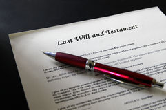 Last will Royalty Free Stock Image