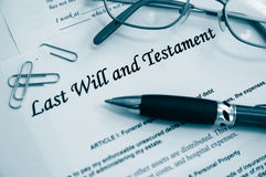Last Will -estate documents Royalty Free Stock Photography