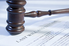 Last will and gavel. For finance and legal concept Royalty Free Stock Photo
