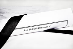 Last Will and Health Care Directive with Pen Stock Images