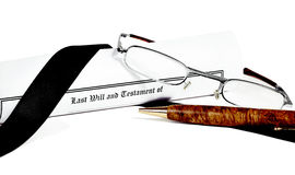 Last Will and Health Care Directive with Pen Royalty Free Stock Images