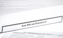 Last Will and Health Care Directive with Pen Royalty Free Stock Photos