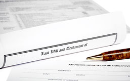 Last Will and Health Care Directive Royalty Free Stock Image