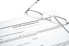 Last Will Medical Directive Inheritance Tax Form Stock Photography