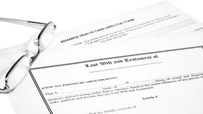 Last Will Medical Directive Inheritance Tax Form Royalty Free Stock Photos