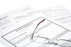Last Will Medical Directive Inheritance Tax Form Stock Photo
