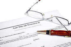 Last Will Medical Directive Tax Form Stock Images