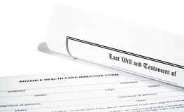 Last Will Medical Directive Tax Form Royalty Free Stock Images