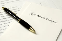 Last Will and Testament royalty free stock photography