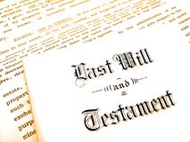 Last Will and Testament. Envelope with Last Will and Testament royalty free stock image