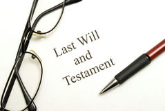 Last Will and Testament Royalty Free Stock Images