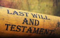 Last will and testament Stock Images