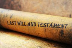 Last will and testament Royalty Free Stock Photos