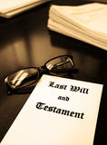 Last Will and Testament on Desk for Estate Planning Royalty Free Stock Photography