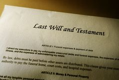 Last will Stock Photo