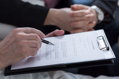 Last will and testament document. Close-up of last will and testament document stock photo