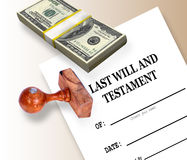 Last Will and Testament Stock Image