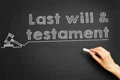Last will & testament Stock Image