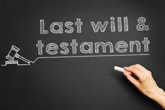 Last will & testament Stock Image