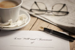 Last will and testament Royalty Free Stock Photo