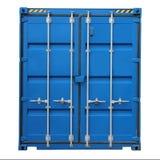 Lastbehållare för sändning och trans. som isoleras på vit bakgrund Arkivbild