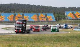 lastbil 2012 för fia för mästerskap europeisk tävlings- Arkivbilder