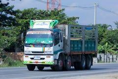 Lastbil av Gownha det logistiska trans.företaget Arkivfoton