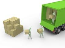 lastbil för 3 last stock illustrationer