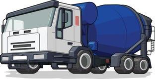 Lastbil för cementblandare Royaltyfri Fotografi