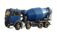lastbil för cementblandare Royaltyfri Foto