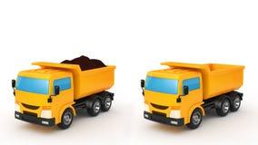 lastbil för förrådsplatsgrävskopahav Royaltyfria Bilder