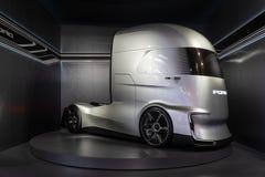 Lastbil för Ford F-vision framtid, elektriskt och autonomt, royaltyfri bild