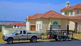 lastbil för landscaper s Arkivfoton