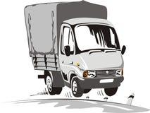lastbil för lasttecknad filmleverans Royaltyfri Fotografi