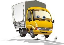 lastbil för lasttecknad filmleverans Royaltyfri Bild