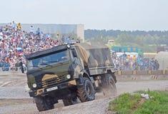 Lastbil för luftburna krafter KAMAZ-43501 Royaltyfri Fotografi