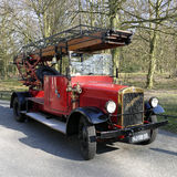 Lastbil för Magirus gammal tidmätarebrand från brandstationen i Wassenaar Royaltyfri Foto