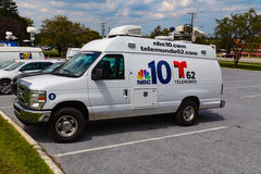 Lastbil för NBC-nyheterna 10 Arkivbilder