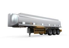 Lastbil för olje- behållare  Arkivbild