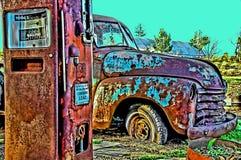 Lastbil för tappning 55 Royaltyfria Bilder
