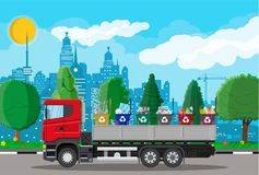 Lastbil för trans.avskräde