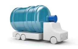Lastbil för vattenleverans royaltyfri illustrationer