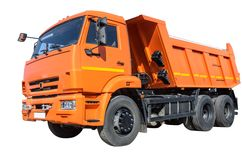 lastbil för förrådsplatsgrävskopahav Royaltyfri Fotografi