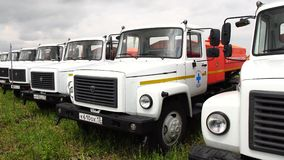 Lastbil GAZ-3307 arkivfilmer