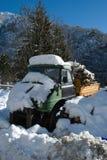 Lastbil i snön Royaltyfri Bild