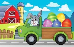 Lastbil med bild 2 för tema för påskägg Arkivbild