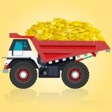 Lastbil med guld Royaltyfri Bild